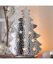 Teelichthalter Tannenbaum Sternchen, Aluminium Katalogbild