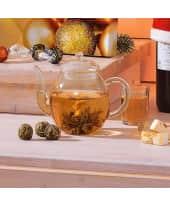 Erblüh-Tee-Geschenk-Set Weißer Tee, inkl. Glastee-Kanne & 6 Teekugeln Katalogbild