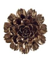 Wand-Deko Blüte, Keramik Vorderansicht