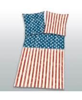 Bettwäsche Stars & Stripes, mit Reißverschluss, Öko-Tex, Baumwolle, Linon Vorderansicht