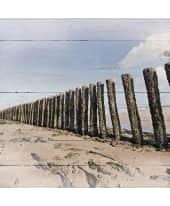 Holzbild Poles at the Beach Vorderansicht