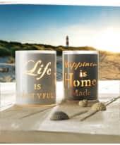 "Windlicht-Set ""Life & Happiness"", 2 tlg. Katalogbild"