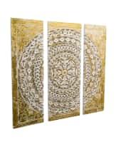 Wanddeko-Set, 3-tlg. Ornamentik, Holz Vorderansicht