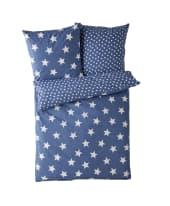 Wende-Bettwäsche Sterne, mit Reißverschluss, Baumwolle Vorderansicht