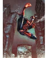 Fototapete Spider-Man im Sprung, Papier Vorderansicht