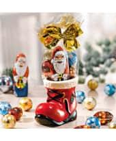 Weihnachtsmannstiefel, gefüllt, inkl. 50g Schokolade, Porzellan Katalogbild