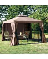 Outdoor-Pavillon Gala, inkl. Seitenwände und Moskitonetz, Polyester, Polyester, beschichtet, Gestänge aus Alu und Eisen Katalogbild