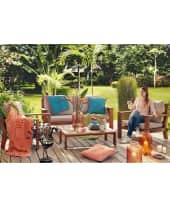 Picknickdecke, wasserdicht durch hochwertige Beschichtung, 85 % Baumwolle / 8 % Viskose /Polyacryl, B 180 x L 180 cm Katalogbild