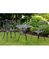 Gartenmöbel-Set, 3-tlg. Lugano, Aluminiumguss Vorderansicht