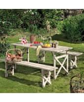 Gartenmöbel-Set, 3-tlg. Lilian, Fichtenholz Katalogbild
