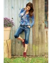 Damen-Strickjacke Alicia, Ellbogenpatches, zwei Taschen, figurbetont, mit Wollanteil Katalogbild