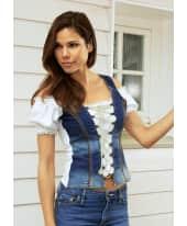 Damenshirt Maxi, Carmenstyle, Rückenteil in Jerseyqualität, figurbetont Katalogbild