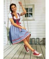 Dirndl Vanessa, Reißverschluss vorn, Rock mit einer Tasche, Rocklänge 60 cm, Baumwolle Katalogbild