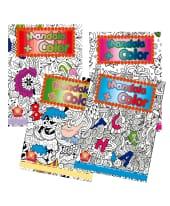 Malbücher, 4-tlg. Mandala & Color, Papier, ca. 28 x  21 cm Vorderansicht