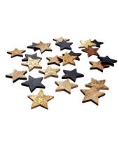 Dekostreuer-Set Sterne, 24-tlg., Holz, je ca. D4 cm Vorderansicht