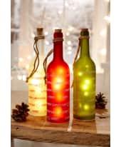 Beleuchtete LED Flasche Merry Christmas Katalogbild