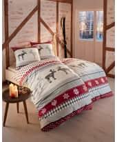 Bettwäsche Winterdream, mit Reißverschluss, Baumwolle Biber Katalogbild