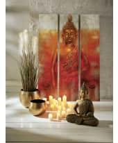 Bilder Set, 3-tlg. Magic Buddha, Holz, ca. 120 x 180 cm Katalogbild