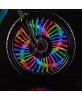 360°-LED-Speichenlichter Monkey Light, faszinierende 360°-Lichteffekte auf Knopfdruck, 42 Motive, 16 Farben Katalogbild
