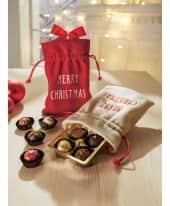 Weihnachtsbeutel mit Füllung, 100g Pralinen und Trüffel Katalogbild