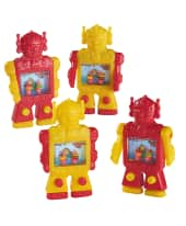 """Wasser-Geschicklichkeitsspiel """"Roboter"""", 24-tlg., Kunststoff, 5,5 x 9,5 x 1,6 cm Vorderansicht"""