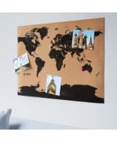 Weltkarte Kork, Ziele und bereiste Länder markieren, als Pinnwand nutzbar Katalogbild