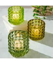 Teelichthalter-Set, 3-tlg. Tropical, Glas Katalogbild