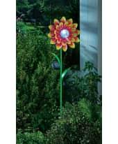 Solarleuchte Blume, LED, Farbwechsler, outdoorgeeignet, ca. H 117 cm Katalogbild