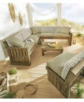 Outdoor-Sitzecke mit Stuhl und Auflagen Lenja, inkl. Sessel und Tisch, Country-Style, Kiefernholz Katalogbild