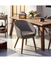 Outdoor-Stuhl Mira, Rattanstuhl mit Auflage, Polyrattan Katalogbild