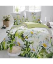 Bettwäsche Gänseblümchen, mit Reißverschluss, Baumwolle Satin Katalogbild