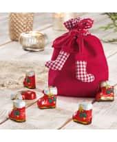 Weihnachtsbeutel, mit Füllung Stiefelchen, 4 Nikolausstiefel, Edel-Vollmilchschokolade Katalogbild