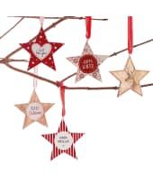 Deko-Hänger-Set, 5-tlg. Red Christmas Stars Vorderansicht