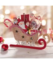 Deko-Objekt Weihnachtsschlitten Santa Katalogbild