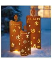 LED-Gartenstecker, 3-tlg. Kerzen, im Rostfinish, zum Stecken, incl. Lichterkette Katalogbild