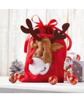 Weihnachtsbeutel, mit Füllung Rudi, Weihnachtsmann, Lilliput-Lindor-Kugeln Katalogbild