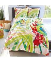 Bettwäsche Tropical, tropischer Print mit Papageien, 100% Baumwoll-Renforcé, Bezug ca. 135 x 200 cm/ Kissen 80 x 80 cm Katalogbild