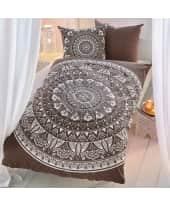 Bettwäsche Mandala, mit unifarbener Rückseite, 100% Baumwoll-Renforcé, Bezug ca. 135 x 200 cm/ Kissen 80 x 80 cm Katalogbild