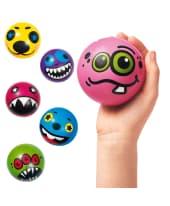 Ball-Set, 12-tlg. Monster, Kunststoff, ca. 7 cm Durchmesser Vorderansicht
