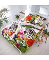 Bettwäsche Dschungel Zebra, mit Reißverschluss, Baumwolle Satin Katalogbild