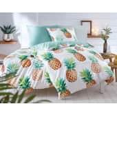 Bettwäsche Sweet Ananas, mit Reißverschluss, Baumwolle Renforcé Katalogbild