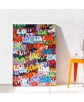 Bild Love-Graffiti, handgemalt, modern, ca. B70 x H100 cm Katalogbild