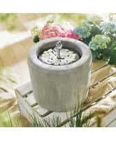 Gartenbrunnen Laura, geschlossener Wasserkreislauf, Beton-Optik, Höhe ca. 22 cm Katalogbild