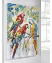 Bild Tropical Parrot, Leinwandbild, handgemalt, ca. 80 x 120cm Katalogbild