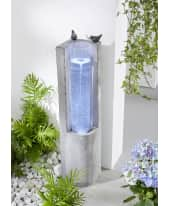 Gartenbrunnen Mila, LED-Beleuchtung, Beton-Optik, Höhe ca. 83 cm Katalogbild