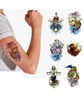 Tattoos, 48-tlg. Piraten, ca. 7 x 10,5 cm Vorderansicht