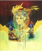 """Bild """"Tutanchamun"""", 50x60 cm Vorderansicht"""