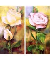 """Bild """"The Rose"""", 34x69 cm, 2er-Set Vorderansicht"""