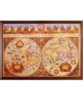 """Bild """"Old Worldsmap"""", 107x75 cm Vorderansicht"""