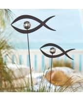 Gartenstecker-Set, 2-tlg. Fische, ein großer und ein kleiner Fisch Katalogbild